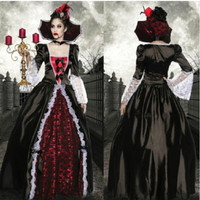 Halloween Fancy Dress black vampire/witch/zombie/Queen Cosplay Costume = 1697170500