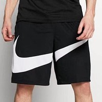 NIKE New fashion hook print couple shorts Black