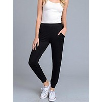 Cool And Collected Joggers   Black