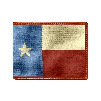 Vintage Texas Flag Needlepoint Wallet by Smathers & Branson