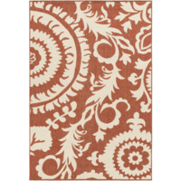Alger Outdoor Rug ~ Rust & Cream