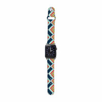 """Amy Reber """"Rainbow IKAT"""" Green Abstract Apple Watch Strap"""