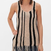 Women's Open Weave Sweater Tank Top