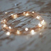 Led Lights, Copper wire  Rustic wedding Outdoor Wedding Barn wedding, Wedding decor rustic, Wedding decoration, Wedding Lights, 19ft Long™