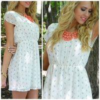 Butterfly Kisses Ivory Fit & Flare Dress