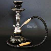 Color and hose options glass narguile hookah set black golden blue red green shisha 30cm smoking pipe water chicha nargile