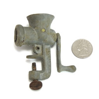 Dollhouse Size Meat Grinder Miniature Vintage Kitchen Decor