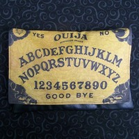 Ouija Board Clutch Foldover Goth Mystifying Oracle Halloween