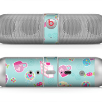 The Subtle Blue with Pink Treats Skin for the Beats by Dre Pill Bluetooth Speaker