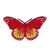 Red Orange Butterfly Patch