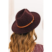 Down The Lane Wool Hat (Plum)