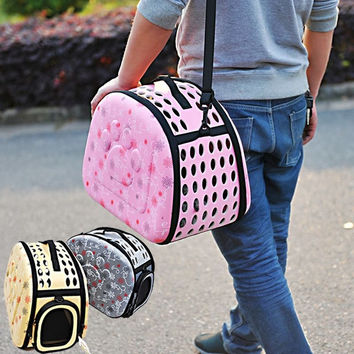 The big dog paw shell package of dogs and cats as pets box out portable shoulder pet bag = 1929633284