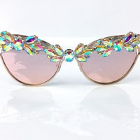 Flower Queen Reflective Sunnies