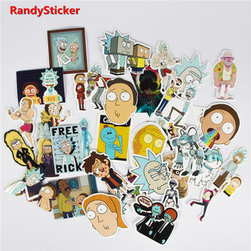 35Pcs/pack FREE WaterProof Graphic Rick and Morty Stickers+Shipping