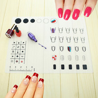 Pressional Nail Art Work Space Mat Nail Stamp Stamping Plate Vinyls Water Marble Maker Silicon Table Cover Protector Fairy MAT