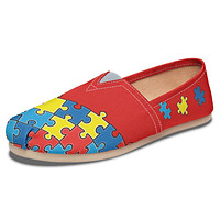 Autism Awareness Puzzle Casual Shoes