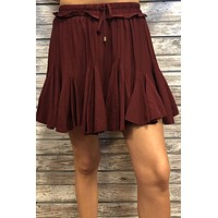 Second Glance Skort- Garnet