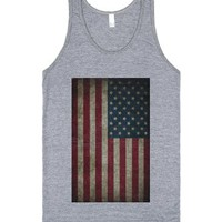 Flag Tank-Unisex Athletic Grey Tank