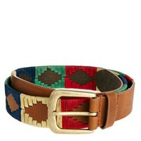 French Connection Leather Aztec Belt