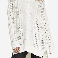 OPEN STITCH TUNIC SWEATER from EXPRESS