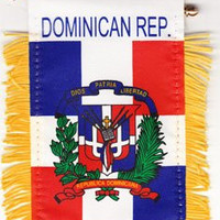 Dominican Republic Hanging Flag for cars,
