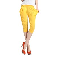 New 2017 Summer Harem Capri Pants Woman Fashion Loose Pants Plus Size Women Popular Capri Womens Pants