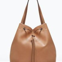 Women's Ladies Designer Leather Zara/Revolve Style Celebrity Tote Bag Smile Shoulder Handbag [6581354503]