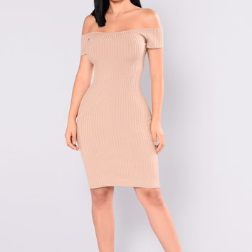 Jolie Sweater Dress - Khaki