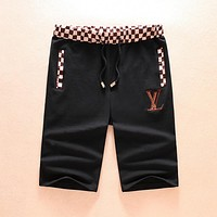 LV Louis Vuitton Popular Casual Sport Shorts Black