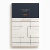 Gold Foil Any-Year Daily Planner - Deco
