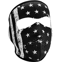 Full Face Mask - White Vintage Flag By ZAN Headgear