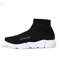 Balenciaga Casual Flat Ladies Socks Sneaker