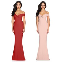 Robe De Soiree Mermaid Burgundry Long Evening Vintage Dresses Party Elegant Vestido De Festa Long Prom Gown 2018 Cold Shoulder