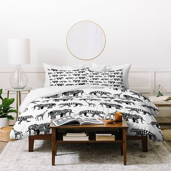 Sharon Turner Graphic Zoo Duvet Cover