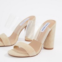 Steve Madden suede heeled sandals at asos.com