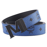 MCM Fashion Woman Men Buckle Belt Leather Belt
