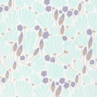 Breezy Floral Turquoise - Organic Cotton - Morning Song Collection (5208.52.00.90)