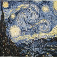 Starry Night Tapestry Wall Art