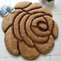 3D rose Carpet 90*90cm carpets and rugs for living room bedroom tea table sofa door Floor Rug soft ground mat red tapete