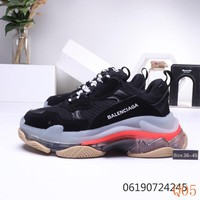 HCXX 19Sep 314 Balenciaga Triple S Clear Bubble Midsole Fashion Casual Sneaker