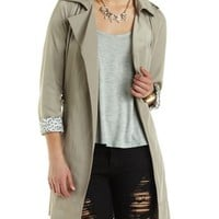 Belted Wrap Trench Coat by Charlotte Russe