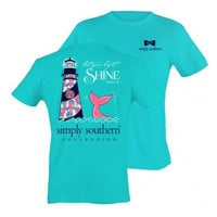 Simply Southern Lighthouse Tee - Teal