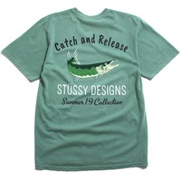 Catch And Release Pigment Dyed T-Shirt Sage
