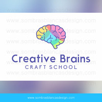 OOAK Premade Logo Design - Creative Brain - Perfect for an online course website or a science blog