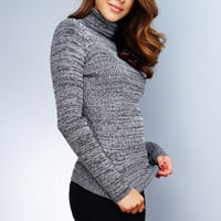 Tatiana Turtleneck Top - Grey
