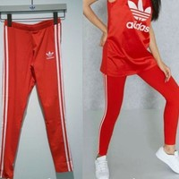 Adidas Women Fashion Running Sport Stretch Leggings Pants Trousers Sweatpants