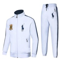 Polo Ralph Lauren 2018 new men's badge embroidery running sportswear two-piece white