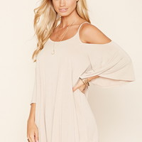 Open-Shoulder Mini Dress