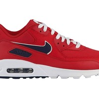 NIKE Men's Air Max 90 Leather Casual Shoes