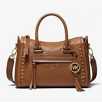 MK New Fashion Leather Shopping Leisure Shoulder Bag Handbag Crossbody Bag Brown